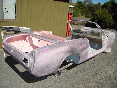 Donna Michelle 1965 Playboy Playmate Pink Ford Mustang Convertible Paint Update