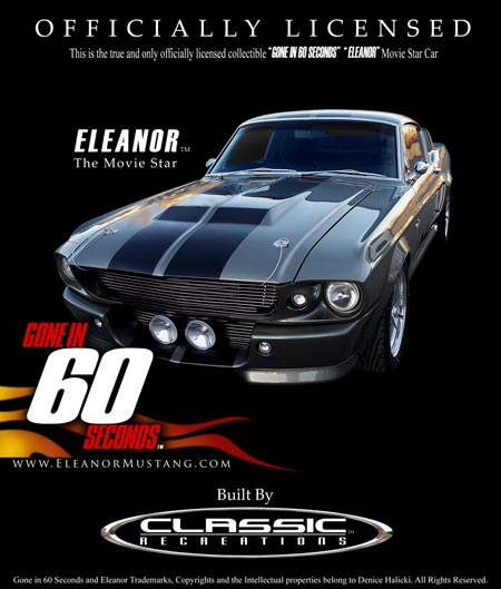 Halicki Classic Recreations Officially Eleanor