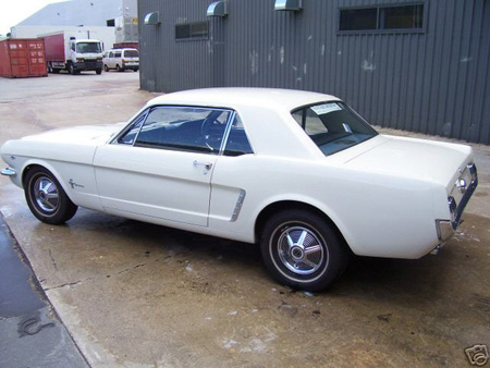 Factory Right Hand Drive RHD 1965 Wimbledon White Australia Mustang