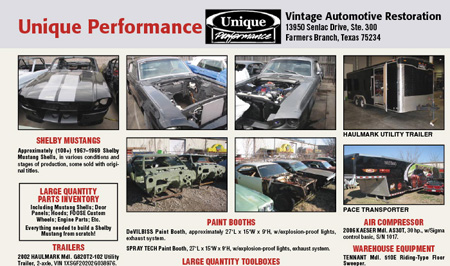 Rosen Systems Unique Performance Auction Sheet