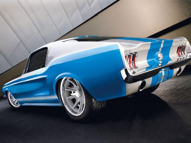 Art Morrison Twin Turbo 1967 Ford Mustang Fastback Rear
