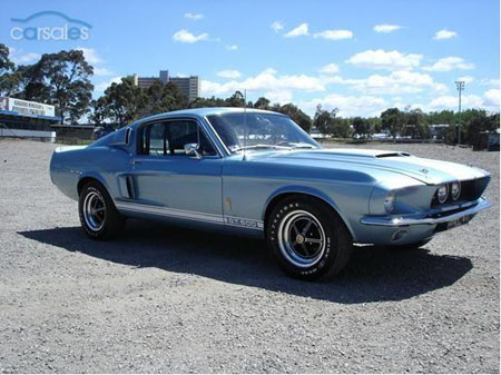 Authentic Original 1967 Ford Mustang Shelby GT500 Brittany Blue Australia