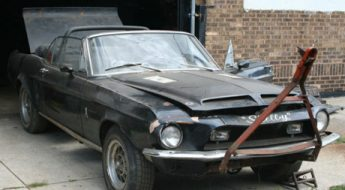 barn find 1968 shelby gt500 convertible cover