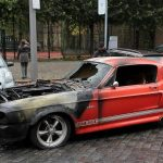 Burning-Shelby-Mustang-GT500-2