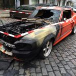 Burning-Shelby-Mustang-GT500-4