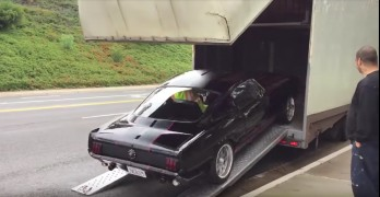 1965 mustang crash trailer shelby