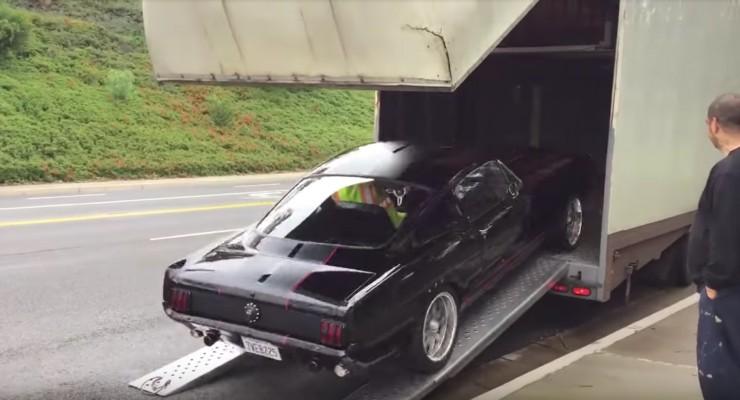 1965 mustang crash trailer shelby